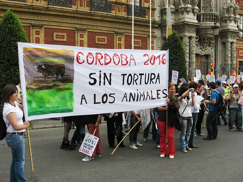 Manifestación Anti-taurina.
