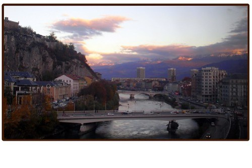 Photo of the river in Grenoble, France.