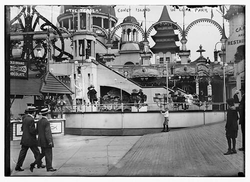Parque de atracciones Luna Park en Coney Island, New York