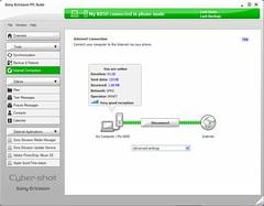 Using K850i as modem