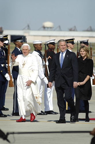 The Pope arrives at Andrews Air Force Base