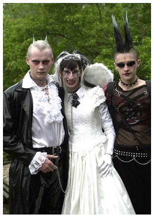 Goth Wedding by weddingssc.