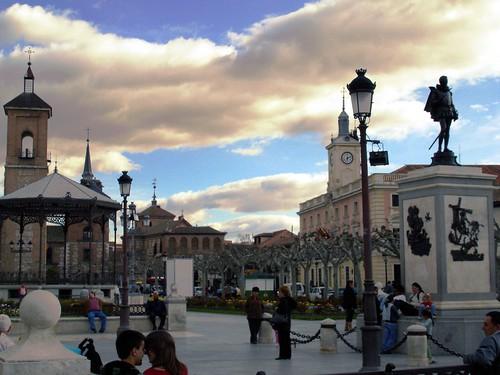 La plaza de Cervantes en la actualidad