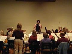Sarah Ionnides conducting