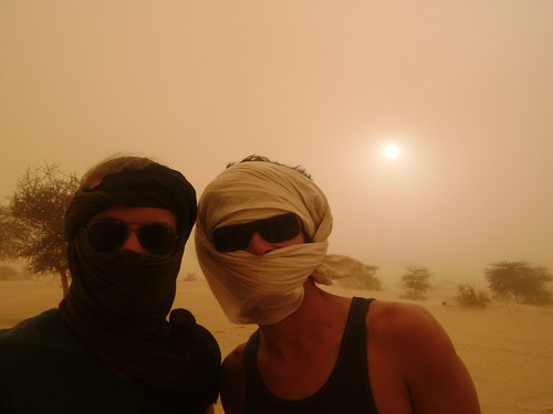 Ed and Cedric during the sandstorm.