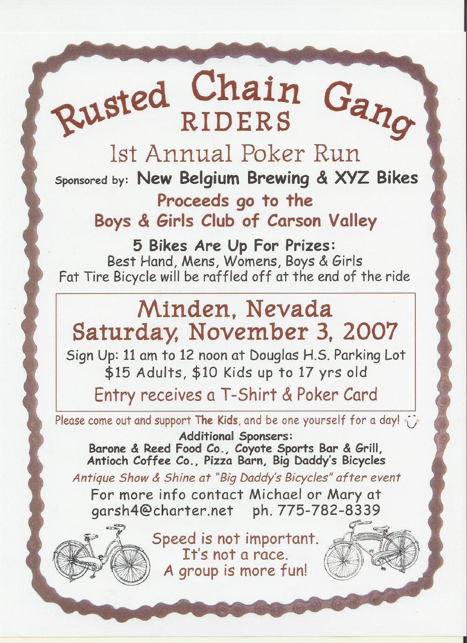 rusted chain gang poker run