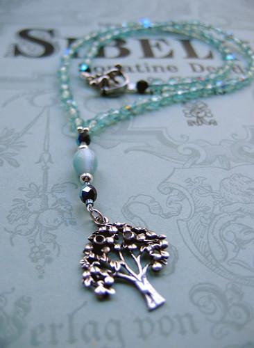 Strange Fruit in Aqua necklace