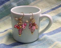 Pink Dangle Leverbacks