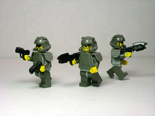 UNSC Marines with BrickArms on Flickr