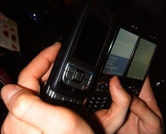 Out Geeking with mobile phones