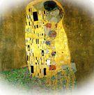 Gustav Klimt. El beso, 1907.