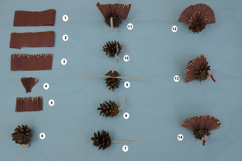 How to make a pinecone turkey