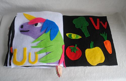 U is for Unicorn, V is for Vegetables