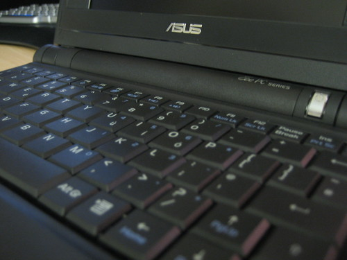 Eee PC keyboard closeup