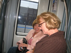 Mom & Suzy on the light rail