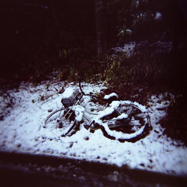 bici en nieve