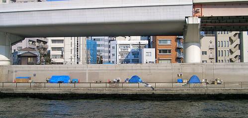 Sin techo en Tokio.