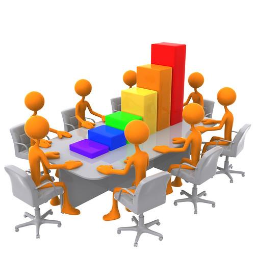 3D Bar Graph Meeting by lumaxart.