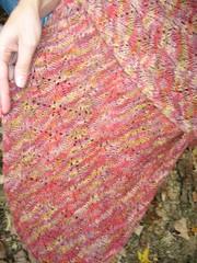 Falling leaves shawl