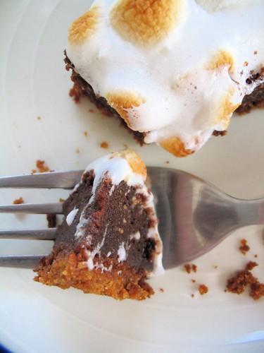 Closeup of S'more Pie