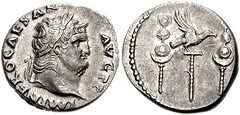 897 Nero Denarius with Reverse Military Standards