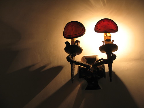 Mabel's Lights, Mabel Dodge Luhan House, Taos, NM, Feb 2007,photo © 2007 by QuoinMonkey. All rights reserved
