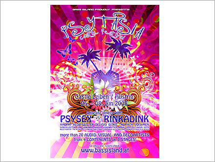 Psytasia Catsle Festival Austria 2008 Psytrance Flyer