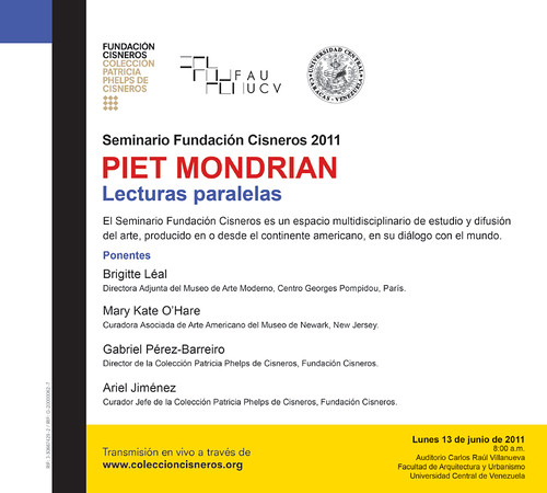Piet Mondrian, Lecturas paralelas  FAU 13/06