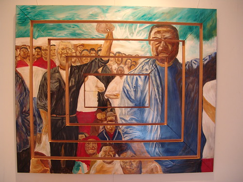 Taimi 'o Tonga (2007) Oil on Timber