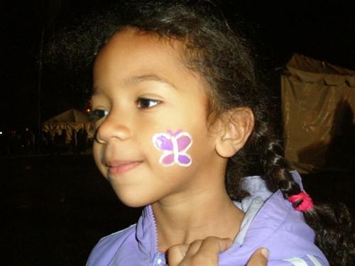 She chose a butterfly