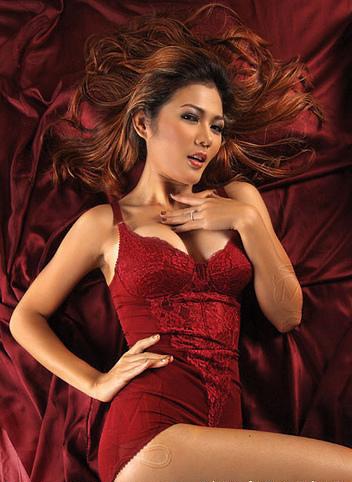 indonesian_models in red bikini