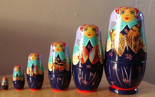 a duplicate set made of porcelain