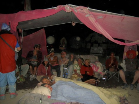 Burn Night in the Pink Cabana