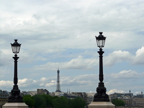 The Eiffel Tower seen from Pont-Neuf