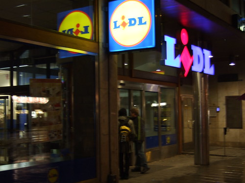 Closed Lidl in Stockholm.