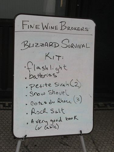 Blizzard survival kit