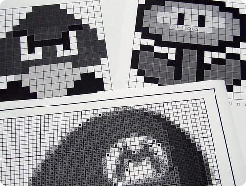 Mario quilt planning!