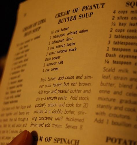 Cream of peanut butter soup