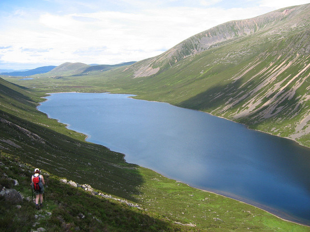 Descent to Loch Einich