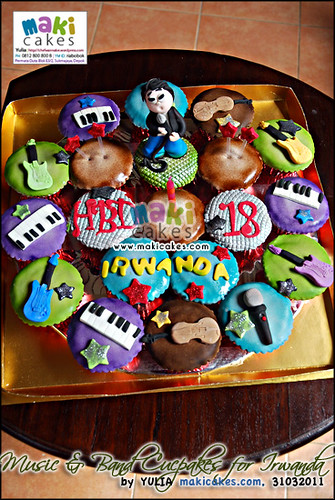 Music & band Cupcakes for Irwanda__ - Maki Cakes