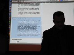 Demonstrating blog commenting