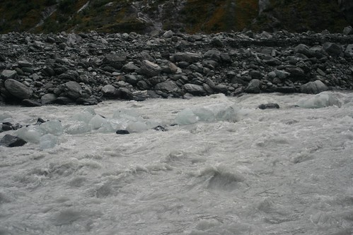 The river flowing from Franz Joseph Glacier