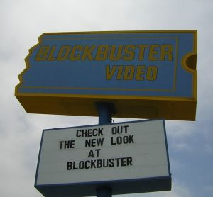 Blockbuster sign of the times