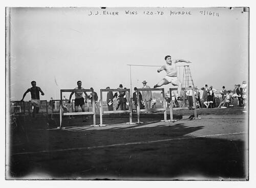J.J. Eller wins 120 yd. Hurdle 1911 (LOC)