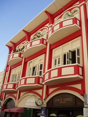 A red and white building, Old San Juan