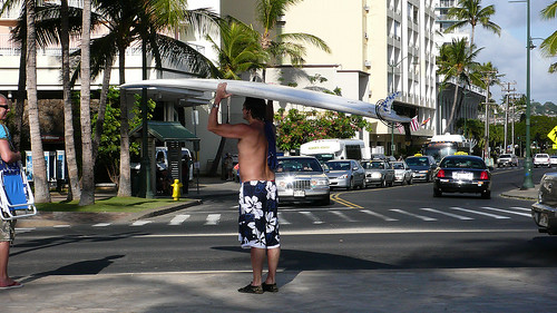 Shorts and Surfing board
