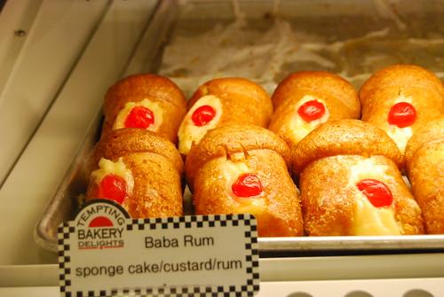 Baba rum sponge cake