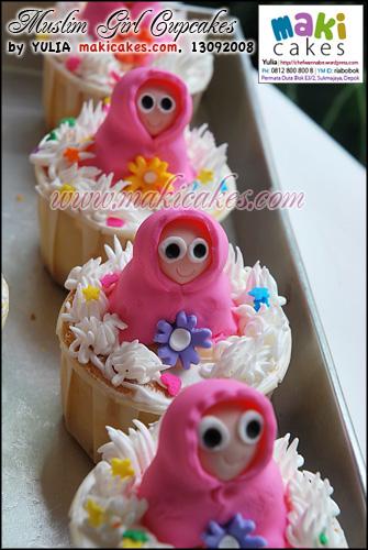 Muslim Girl Cupcakes_ - Maki Cakes