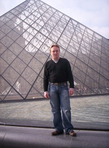 Jim at Louvre Pyramids