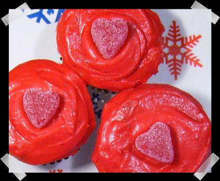 Gluten-free valentines day cupcakes